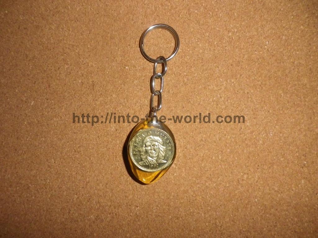 キューバ お土産 キーホルダー ゲバラ 硬貨 コイン 写真