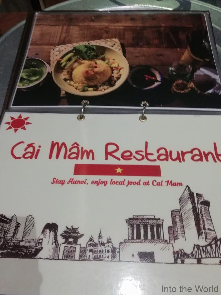 ハノイ旧市街 ベトナム料理 Cai Mam Restaurant