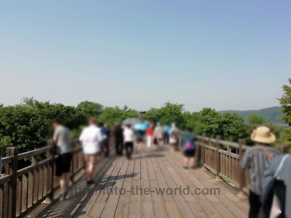 臨津閣 自由の橋 写真
