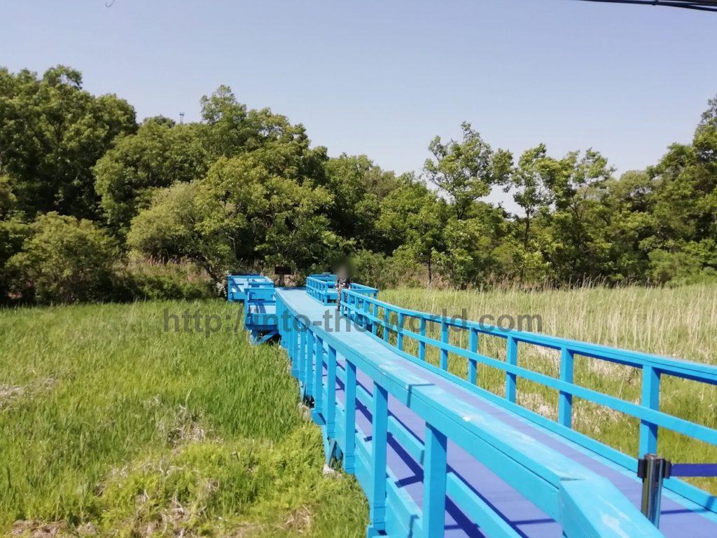 板門店 徒歩の橋(徒歩橋、青い橋) 写真